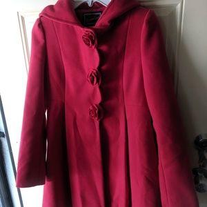 Girls Size 14 Rothschild's Red Hooded Coat